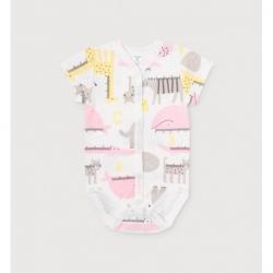 полукомбинезон для девочки ясли, К 6210/розовые звери линейки на сахаре