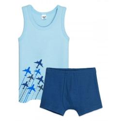 Комплект для мальчика, голубой/т.синий, 3309