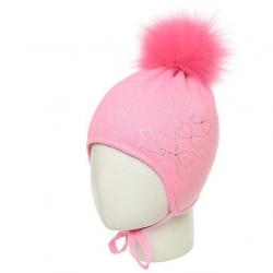 Шапка для девочки,Арт. 927, ярко-розовый,