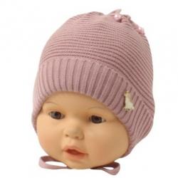 Шапка детская, пудровый, Арт.21109