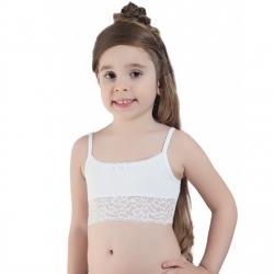Топ для девочек, белый, Арт.708 М