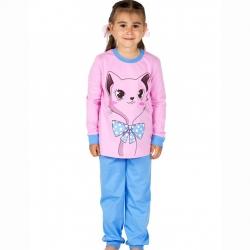 Пижама, сине-голубой+розовый, К2222-5486