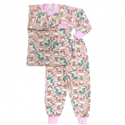 Пижама д/д, розовая, (единороги);, 1035ф.ср