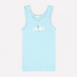Майка для девочки, голубая вода(звездный вальс), К 1077