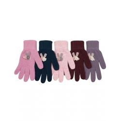 Перчатки детские, шерсть, Д.TG-429, Ассорти