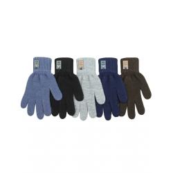 Перчатки подростковые, шерсть, Д.TG-507, Ассорти