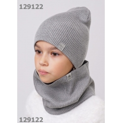 Шапка детская, меланж серый,  903065ха