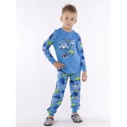 Пижама детская, принт, набивное полотно, цвет голубой, BP 345-003