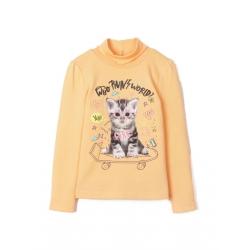 Водолазка для девочки, Оранжевый, CSKG 62643-29-262