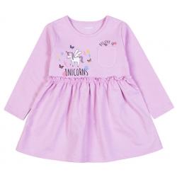 Платье  для девочки M0673F-3/6 (Св.сиреневый )