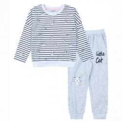 Пижама для девочки M0691K-3/6 ( белый (меланж))
