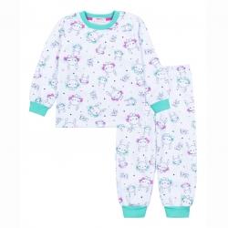 Пижама  для девочки N31FN-2/6 (белый (зайчики))