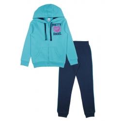 Костюм для девочки, бирюзовый/т.синий, CAJ 9800