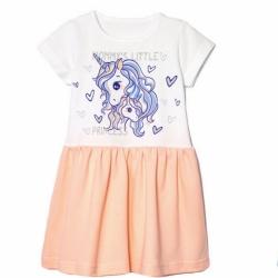 Платье,  Персик, 2141-178, Little Princess