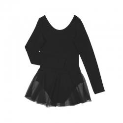 Купальник гимнастический для девочки, чёрный, CAK 4149