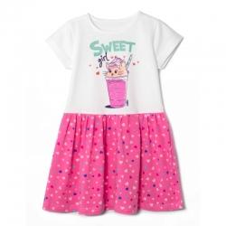 Платье для девочки, Сердечки/наб, COOL girl,  SWEET, 2112-178