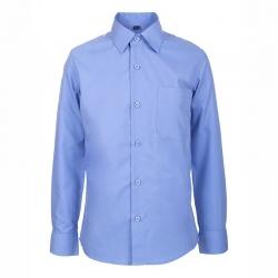 Сорочка для мальчика дл.рукав, т. голубой,(6128) DINO-23a